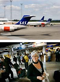 Det är strejk på flygbolaget SAS. Foto: Scanpix