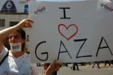En protest för fred i Gaza. Foto: Scanpix