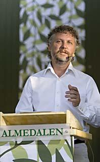 Miljöpartiets språkrör Peter Eriksson i Almedalen. Foto: Henrik Montgomery/Scanpix