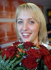 En glad Jytte Guteland valdes  på onsdagen till ny ordförande i SSU. Foto: Leif R Jansson/Scanpix