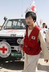 Äntligen fri. En sydkoreansk man har släpps av talibanerna. Foto: Musadeq Sadeq/Scanpix