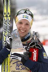 Charlotte Kalla vann Tour de Ski. Foto: Heiko Ljunge/Scanpix