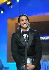Zlatan fick två priser på Idrottsgalan. Foto: Bertil Ericson/Scanpix