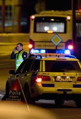 Polisen fick spärra av stora delar av Göteborg efter rånet. Foto: Karin Malmhav/Scanpix