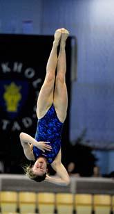 Elina Eggers vann guld i höga hopp i helgens EM för nationsmästare. Foto: Jonas Ekströmer/Scanpix