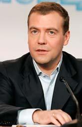 Dmitrij Medvedev är Rysland president. Foto: Ivan Sekretarev