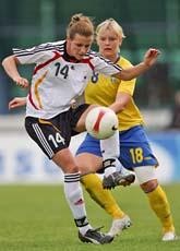 Tyskland vann med 2-0 mot Sverige i Algarve Cup i fotboll. Foto: Steven Governo/Scanpix