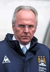 Svennis måste kanske sluta som tränare för Manchester City. Foto:Scott Happell/Scanpix
