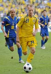 Sverige förlorade mot Ukraina med 1-0. Foto: Jessica Gow/Scanpix.