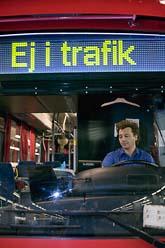 Busschaufförerna i Stockholm strejkar. Många stockholmare får problem att ta sig till jobbet. Foto: Kerstin Carlsson/Scanpix