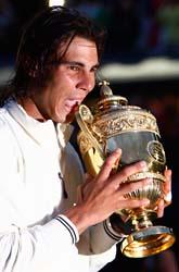 Rafael Nadal vann finalen i tennis i Wimbledon. Foto: Alessia Pierdomenico/Scanpix