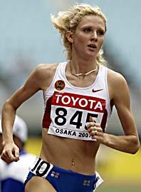 Jelena Soboleva är snabbast i världen på 800 meter. Nu är hon avstängd för dopning och får inte tävla i OS. Foto: Anja Nedringhaus/Scanpix.