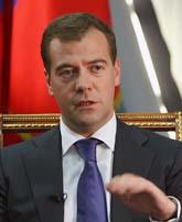 Rysslands president Dmirtri Medvedev. Foto: Vladimir Rodionov/Sanpix
