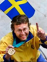 Jonas Jacobsson vann guld i luftgevär. Bilden är gammal. Foto: Jonas Ekströmer/SCANPIX.