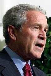 George Bush hoppas att planen ska rädda bankerna. Foto: Pabli Martinez Monsivais/Scanpix