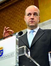 Statsminister Fredrik Reinfeldt. Foto: Pontus Lundahl/Scanpix