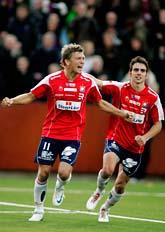 Örgryte spelar i allsvenskan i fotboll nästa år. Foto: Peter Widing/Scanpix