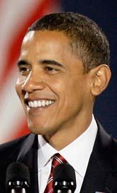 Barack Obama blir USAs president. Foto: Morry Gash/Scanpix