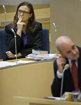 Riksdagen röstade ja till EUs nya grundlag. Foto:Henrik Montgomery/Scanpix