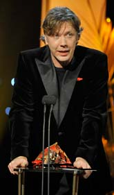 Mikael Persbrandt fick filmpriset Guldbaggen. Foto: Jessica Gow/Scanpix