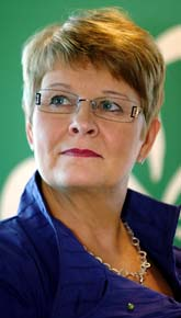 Näringminister Maud Olofsson är besviken på General Motors. Foto: Tobias Wallström/Scanpix.