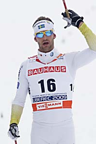 Södergren knep silvermedaljen. Foto: Petr David Josek/Scanpix.