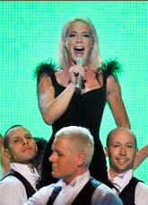 Malena Ernman sjöng högst i Globen. Foto: Maja Suslin/Scanpix