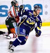Andreas Falk jublar över HV 71 seger över Frölunda. Foto: Mikael Fritzon/Scanpix