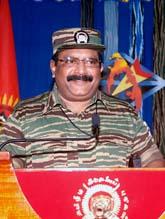Tamilska tigrarnas ledare Velupillai Prabhakaran. Sri Lankas regering säger att ledaren är död. Foto: AP Photo/Scanpix