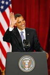 Barack Obama talade i Kairo i Egypten. Foto: Ben Curtis/Scanpix