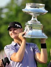 Anna Nordqvist efter segern i LPGA-tävlingen. Foto: Nick Wass/AP Photo/Scanpix