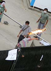 Stökigt i Iran efter presidentvalet. Foto: AP Photo/Scanpix