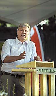 Lars Ohly talade i Almedalen. Foto: Scanpix