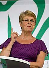 Centerns ledare Maud Olofsson höll tal i Visby. Foto: Leif R Jansson/Scanpix