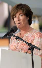 Mona Sahlin talade om jobb i Almedalen på onsdagen. Foto: Leif R Jansson/Scanpix