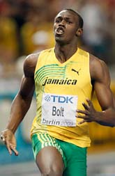 Usain Bolt - snabbast i världen. Foto: Scanpix