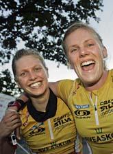 Linnea Gustafsson och Helena Jansson. Foto: Sören Andersson/Scanpix