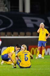 Drömmen om EM-guld försvann efter matchen mot Norge. Foto: Antti Aimo-Koivisto/Scanpix