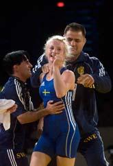 Sofia Mattson - världsmästare. Foto: Fredrik Sandberg/Scanpix
