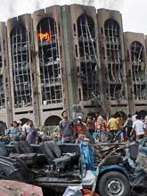 140 människor dödades av bomber i Bagdad. Foto. Karim Kadim/Scanpix.