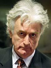 Radovan Karadzic är åtalad för krigsbrott. Foto: Valerie Kuypers/Scanpix