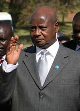 Ugandas president Yoweri Museveni. Foto: Tsvangirayi Mukwazhi/AP/Scanpix