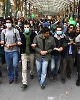 Tusentals människor protesterade mot Irans ledare. Foto: AP/Scanpix