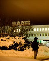 Saabs fabrik i Trollhättan på måndagen. Foto: Björn Larsson Rosvall/Scanpix
