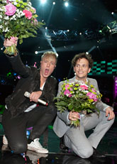 Ola Svensson och Salem al Fakir klara för final. Foto: Maja Suslin/Scanpix