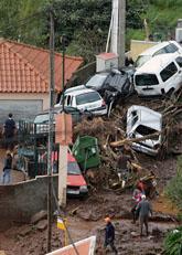 Många har dött i översvämningarna på Madeira. Foto: Octavio Passos/Scanpix