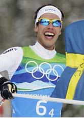 Sverige vann OS-guld i skidstafetten. Foto: Scanpix