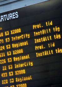 Många tåg har blivit försenade. Foto: Leif R Jansson/Scanpix