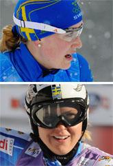 Helena Jonsson och Anja Pärson tävlar i OS i helgen. Foto: Scanpix.