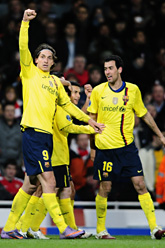Zlatan gjorde två mål i matchen mot Arsenal. Foto: Manu Fernandez/Scanpix